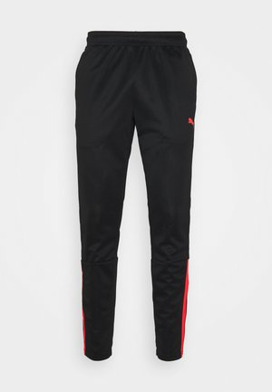TEAMLIGA TRAINING PANTS - Pantalones deportivos - black/red blast