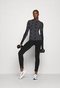 adidas Performance - Long sleeved top - black/white - 1
