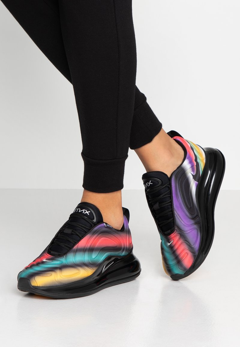 Nike Sportswear - AIR MAX  - Trainers - black/metallic silver/university gold/flash crimson/kinetic green/psychic purple