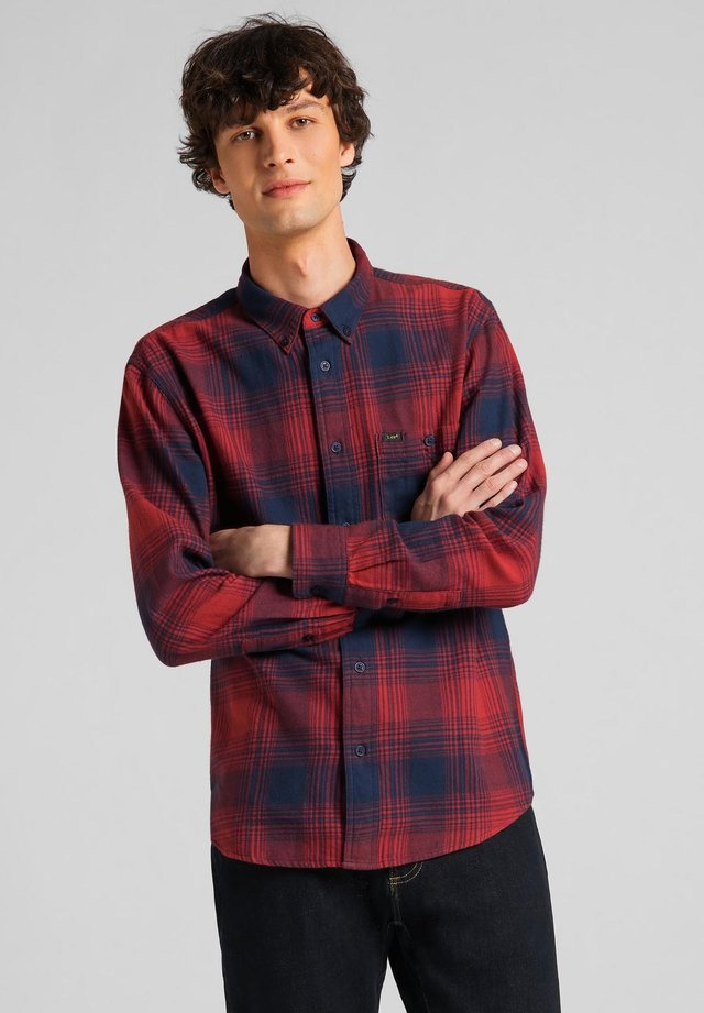 RIVETED - Camisa - red ochre