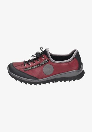 Casual lace-ups - black/wine/dust