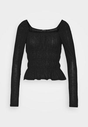 ANNA - Long sleeved top - black