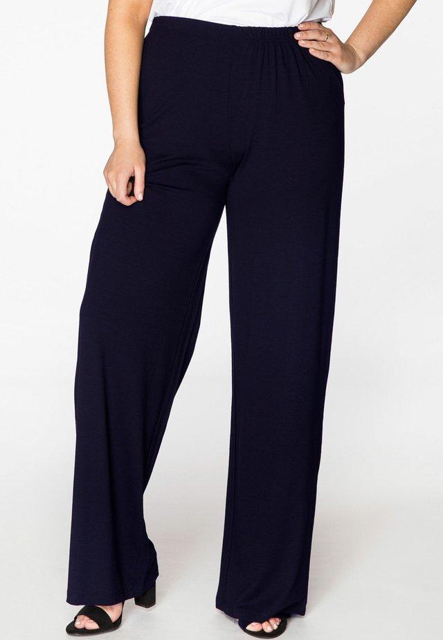 MIT EINEM ELASTISCHEN BUND - Pantalon classique - navy