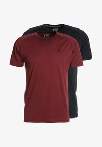 Your Turn Active - 2 PACK - Basic T-shirt - red/black - 5