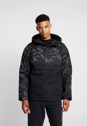 CAMO MIX PULL OVER JACKET - Light jacket - black/dark camo