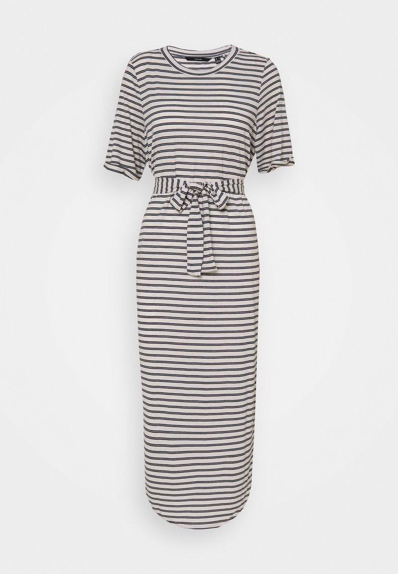 Vero Moda Tall - VMALONA CALF DRESS - Jersey dress - navy blazer/white