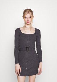 Even&Odd - Jumper dress - mottled dark grey - 0