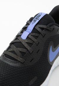 Nike Performance - REVOLUTION 5 GLITTER GG - Neutral running shoes - black/sapphire/lemon/white - 2