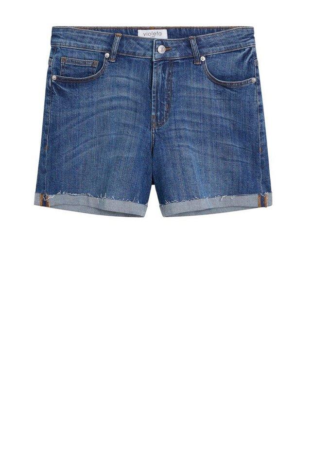 VICKY - Short en jean - mittelblau
