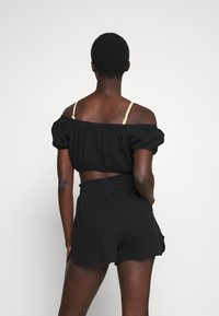 Cotton On Body - OFF THE SHOULDER LONGLINE SHORT SET - Beach accessory - black - 2