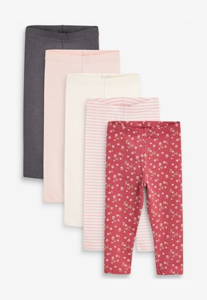 5 PACK RIBBED - Leggings - Trousers - pink