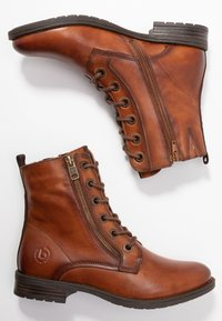 Bugatti - RONJA - Lace-up ankle boots - cognac - 3