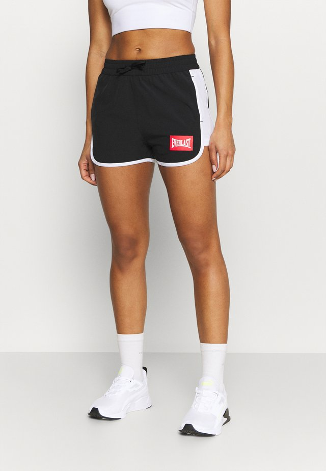 LALY - Sports shorts - black/white