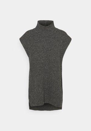 CARMEN LONG VEST - Jumper - dark grey melange