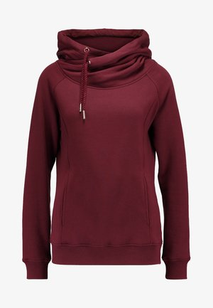 RAGLAN HIGH NECK  - Hoodie - cherry