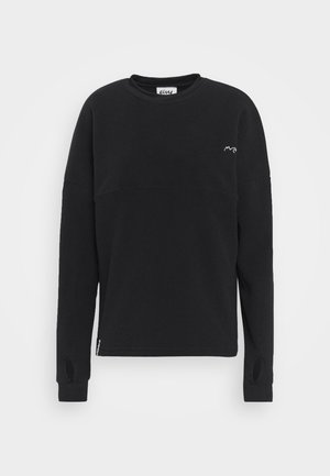 BOXY - Fleecepullover - black