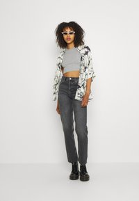 BDG Urban Outfitters - SUPER CROP RACER TANK - Top - grey marl - 1