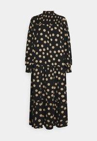 Glamorous - MODESTY SMOCKED HIGHNECK MAXI DRESSES WITH LONG SLEEVES - Maxi dress - black/sand - 4