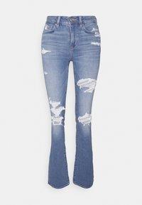American Eagle - HI RISE SKINNY  KICK - Jeans Skinny Fit - classic vintage destroy - 5