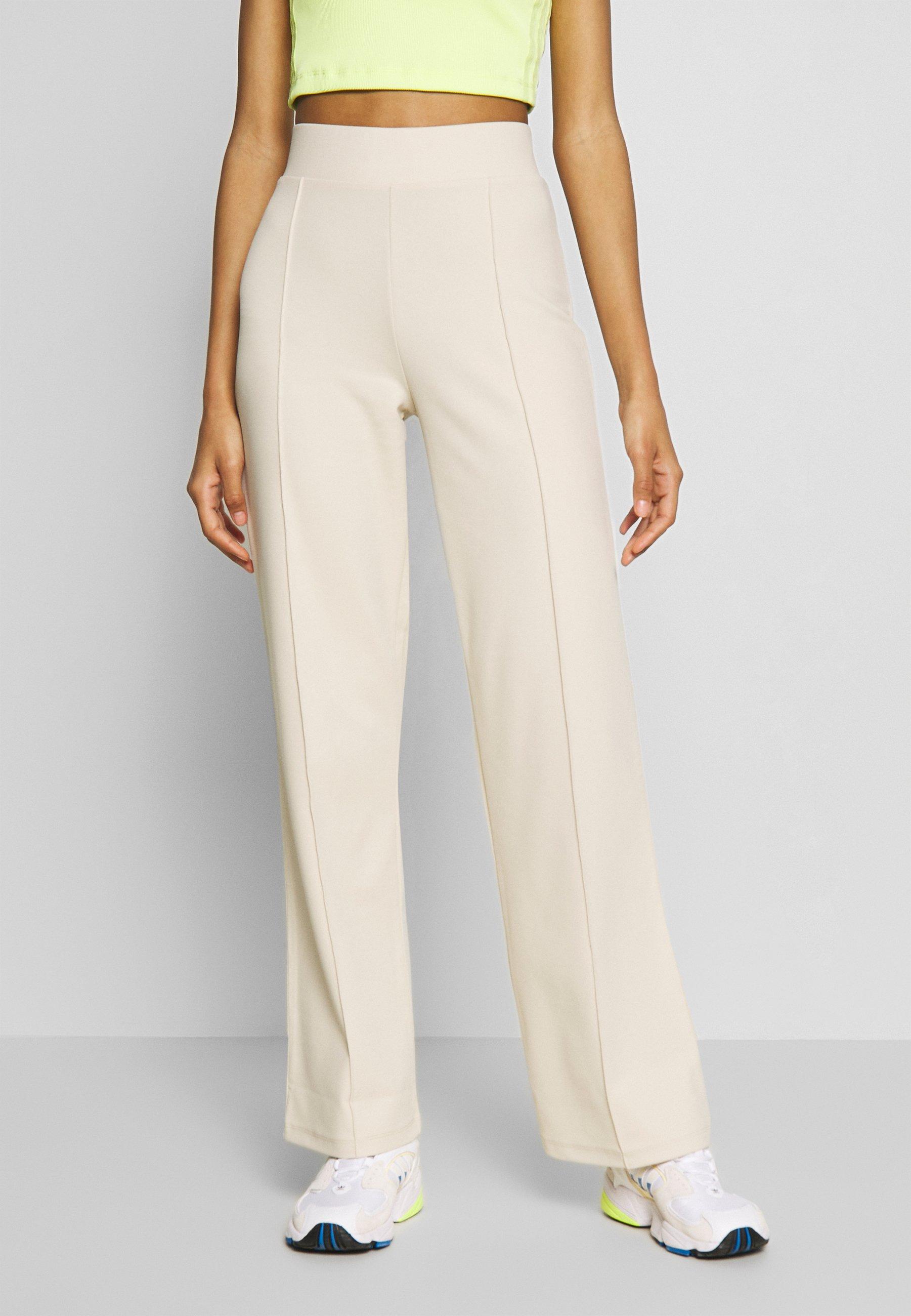 DETAILED WIDE PANTS Bukse beige