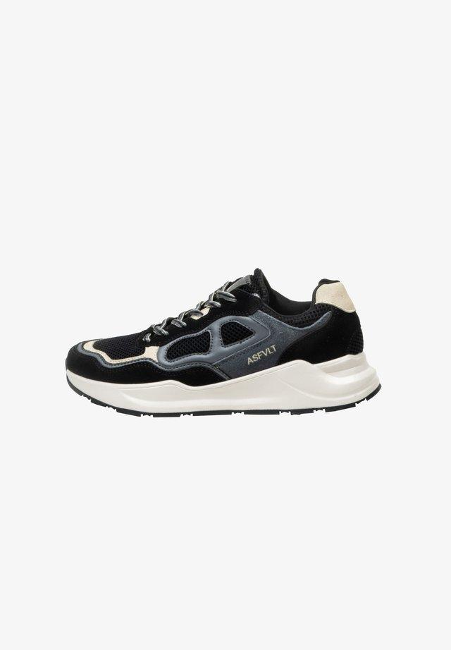 Sneakers laag - blk/grytan