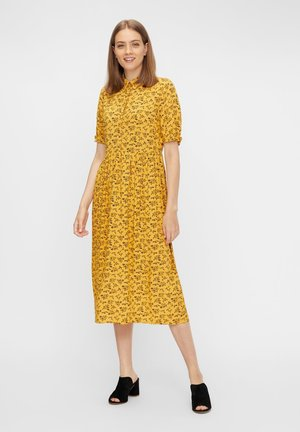 Sukienka koszulowa - nugget gold