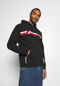 Tommy Jeans - STRIPE MOUNTAIN - Sweat à capuche - black