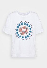 OVERSIZE GALACTIC - Print T-shirt - white
