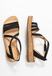 El Naturalista - TÜLBEND - Platform sandals - black - 3