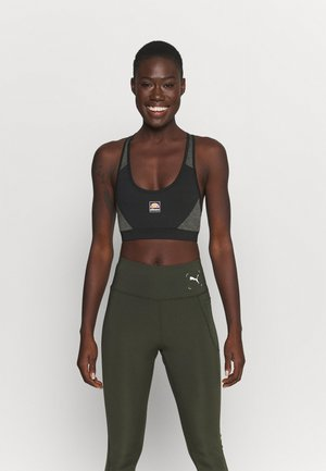 GRIZA - Medium support sports bra - black