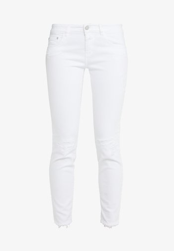 BAKER  MID WAIST CROPPED LENGTH - Džíny Slim Fit - white