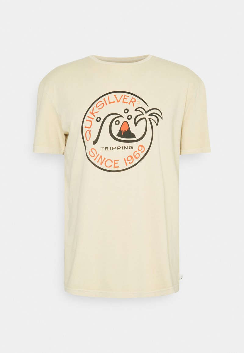 Quiksilver - INTO THE WIDE - Print T-shirt - antique white