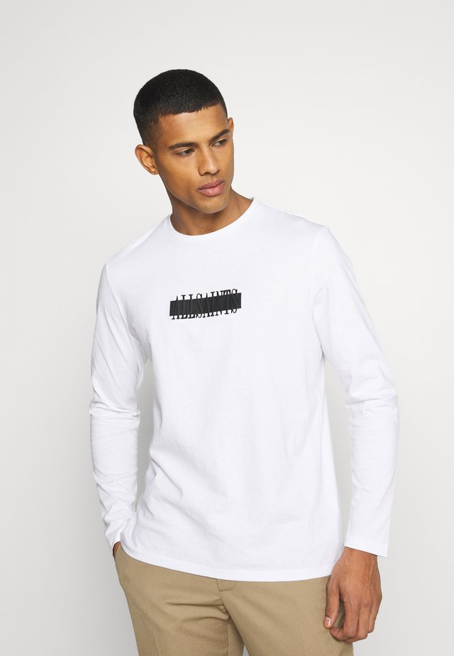 STAMP LAMINATE CREW - T-shirt à manches longues - optic white