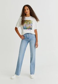 PULL&BEAR - T-shirt med print - white - 5