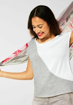 T SHIRT IM COLOURBLOCK - Basic T-shirt - grau