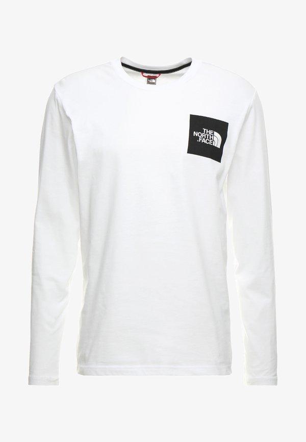 The North Face FINE TEE - Bluzka z długim rękawem - white/biały Odzież Męska IXPK