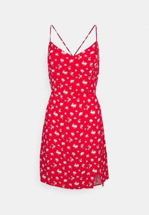 SHORT DRESS - Day dress - red