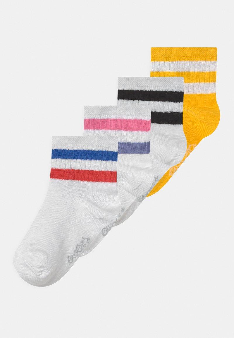 Ewers - RINGEL 4 PACK UNISEX - Socks - gelb/weiß/rose