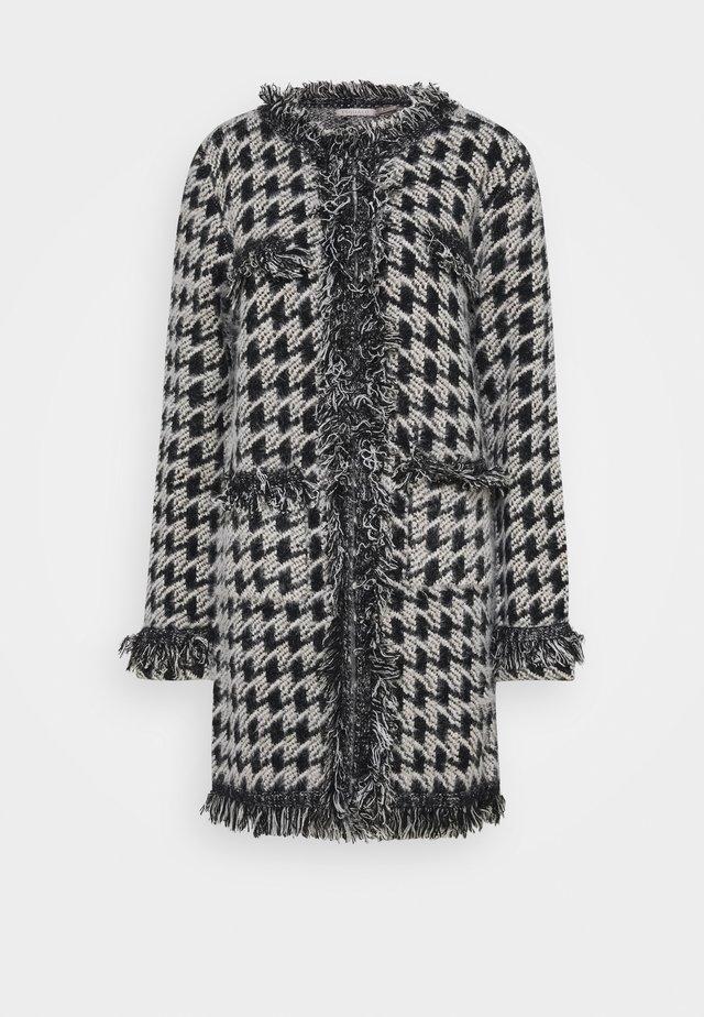 CARDIGAN PIED DE POULE - Vest - grey