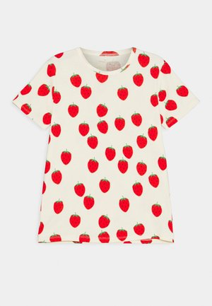 STRAWBERRY TEE UNISEX - Print T-shirt - offwhite