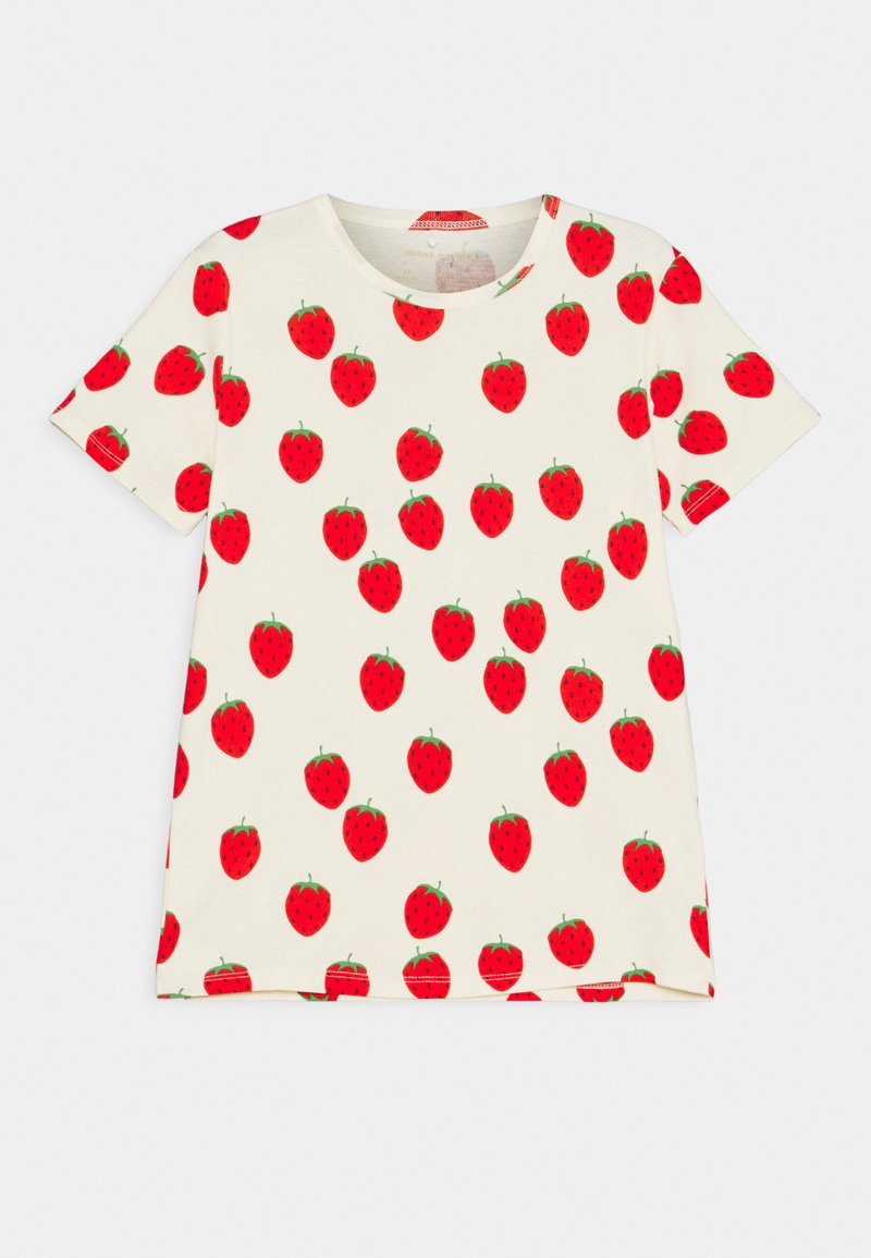 Mini Rodini - STRAWBERRY TEE UNISEX - Print T-shirt - offwhite