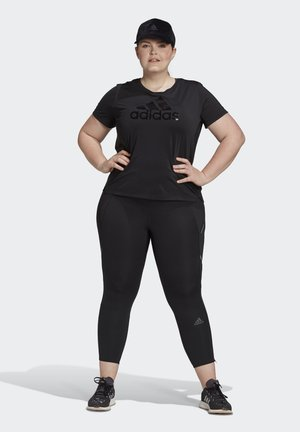 GLAM ON BOS TEE - Sportshirt - black/black