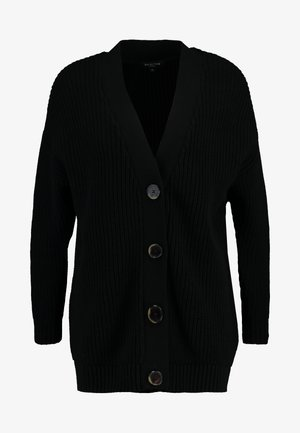 SLFBAILEY BUTTON CARDIGAN - Gilet - black