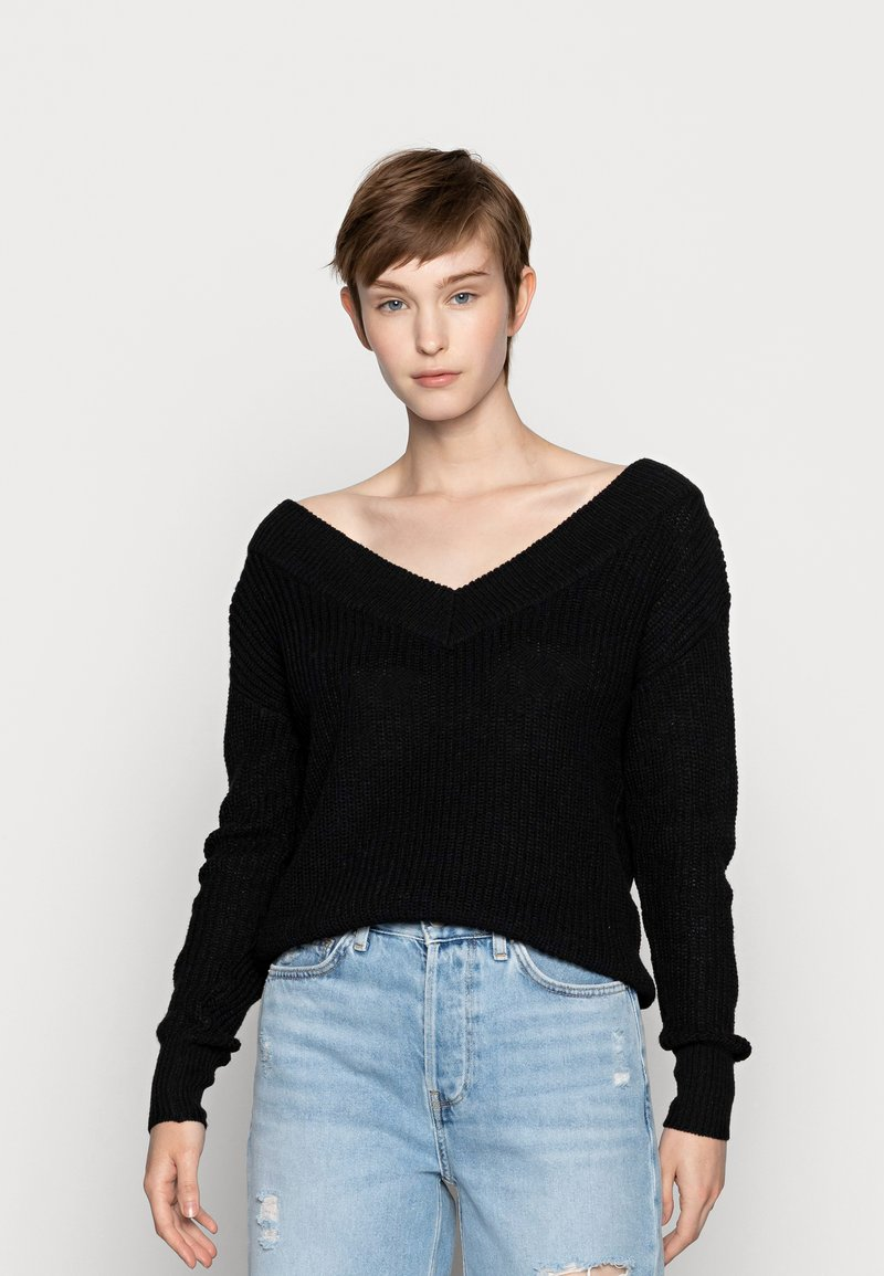 ONLY - ONLMELTON LIFE - Maglione - black