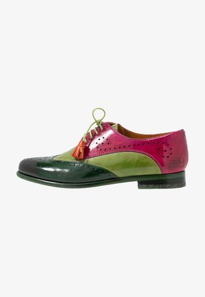 SELINA  - Lace-ups - dark forest/new grass/dark pink
