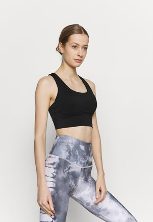 ULTIMATE LONGLINE CROP - Light support sports bra - black