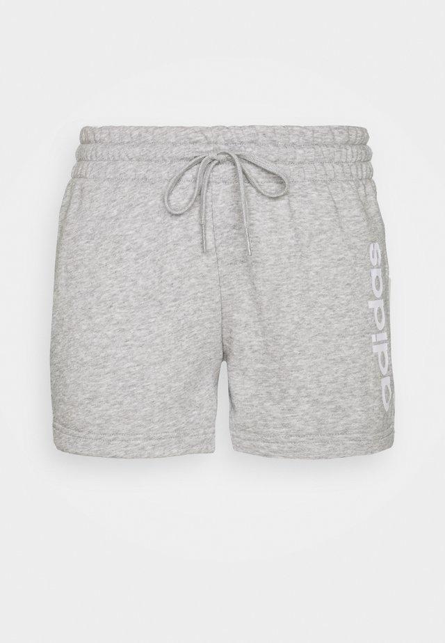 ESSENTIALS SLIM LOGO SHORTS - Short de sport - medium grey heather/white