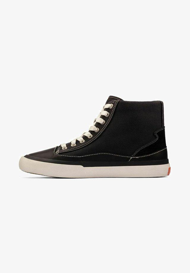 Sneakers hoog - black canvas