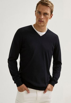 Pullover - blue-black denim