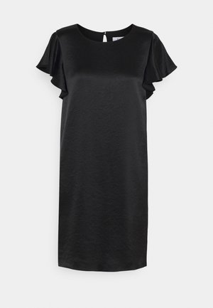 BRYCE RUFFLE DRESS - Cocktail dress / Party dress - black
